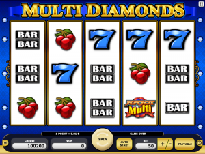 Kajot Automat Multi Diamonds Online Zdarma